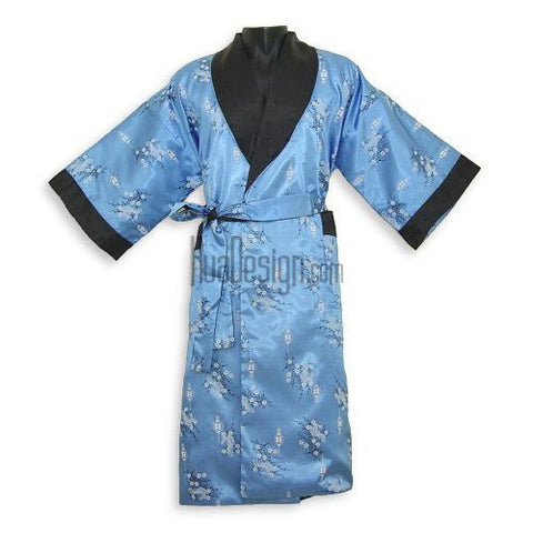 Blue Euphoria Reversible Robe