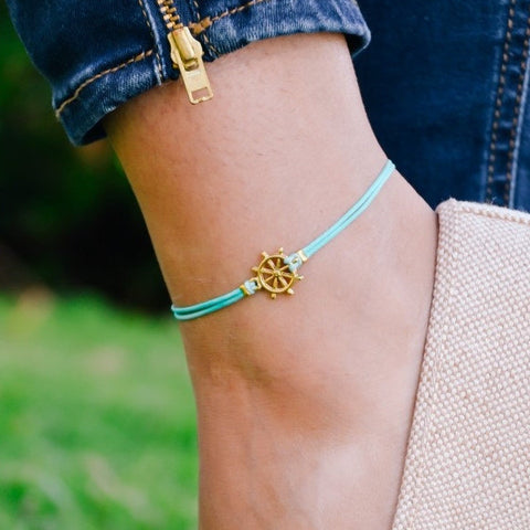 Cord Anklet (Ship Wheel)