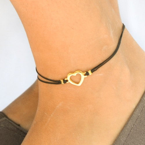 Cord Anklet (Heart)