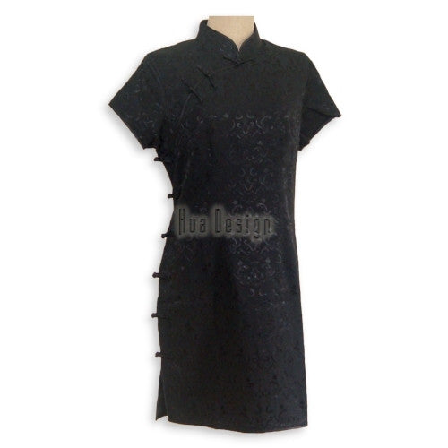 Traditional Cheongsam Dress SE003 (Black)