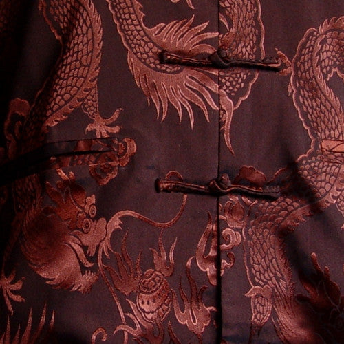 Men's Dragon Jacket (Brown) (Close-up)