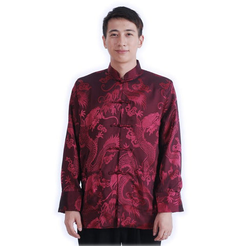Maroon Men's Dragon Jacket