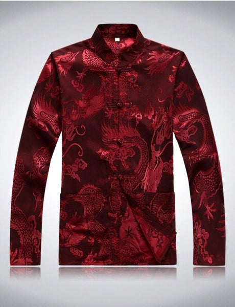 Men's Dragon Jacket (Maroon)