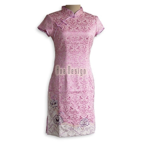 Pink Cheongsam Dress