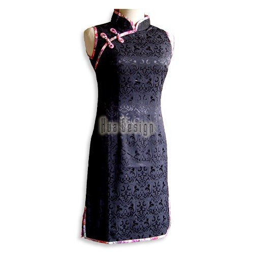 Black Cheongsam Dress