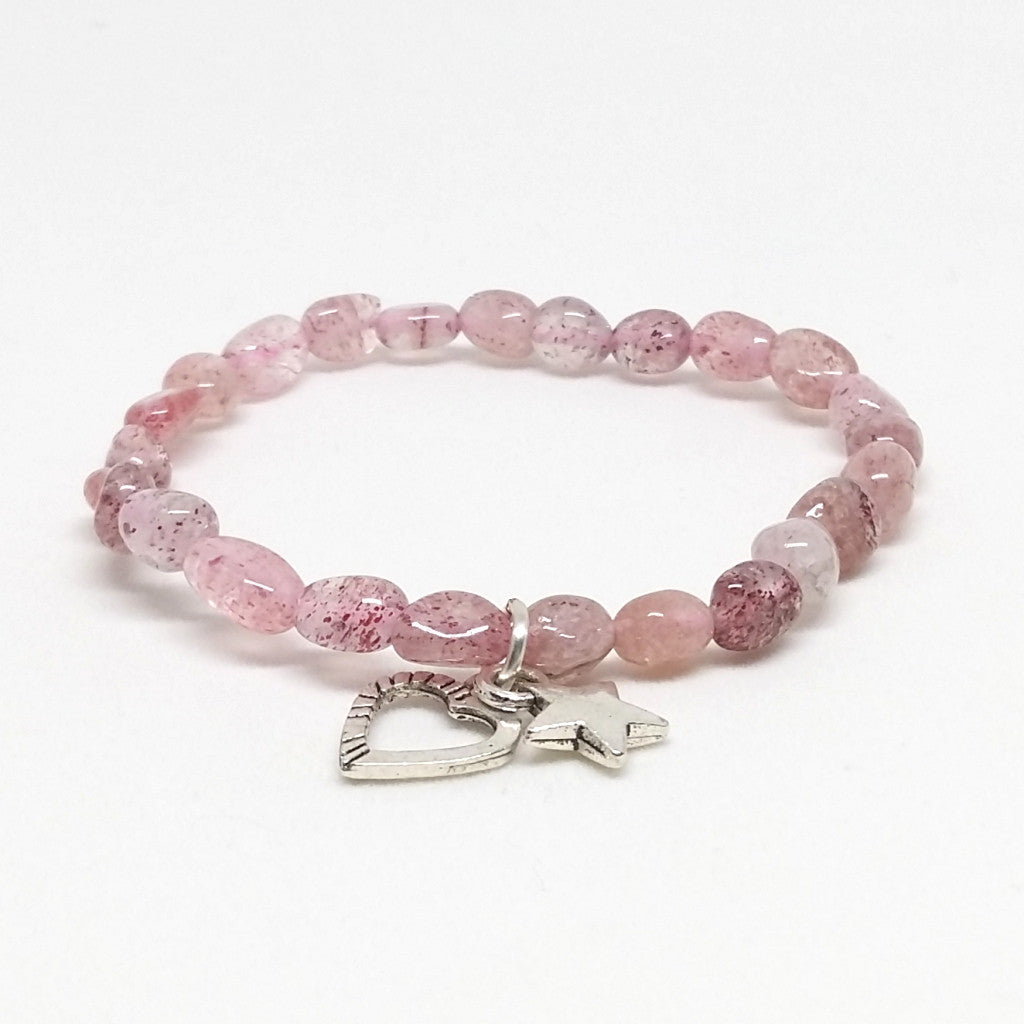 Strawberry Quartz Stone Bracelet