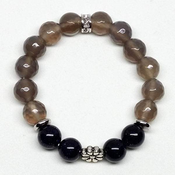 Smoky Agate and Galaxy Sitara Stone Bracelet