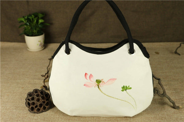 Hand-Painted Handbag (White)