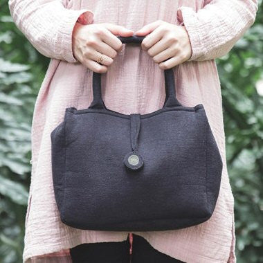 Plain Cloth Handbag (Black)