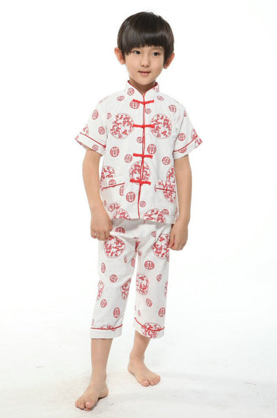 Boys Red Dragon Pajamas