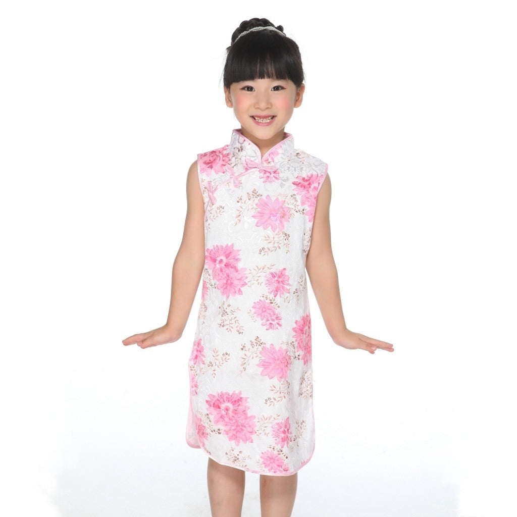 Girls Floral Fabric Cheongsam TBGC03