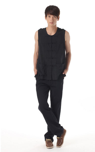 Men's Silk Vest (Black)