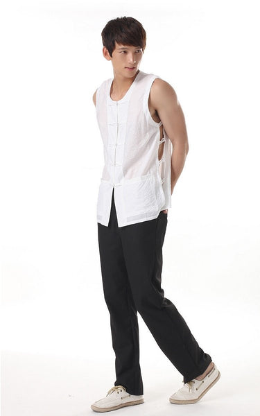Men's Silk Vest (White)