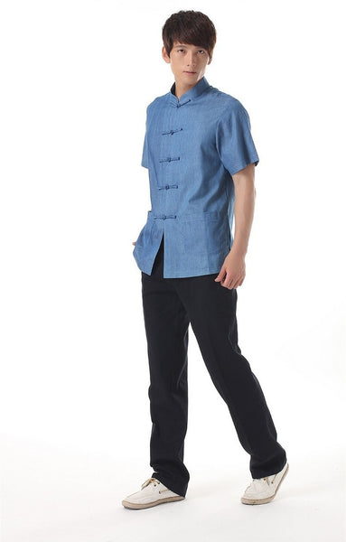 Plain Blue Cotton Shirt