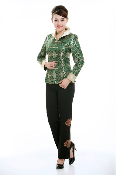 Brocade Floral Prosperity Jacket (Green)