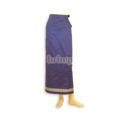 Blue Sari Thai Wrap Skirt (Design 2)