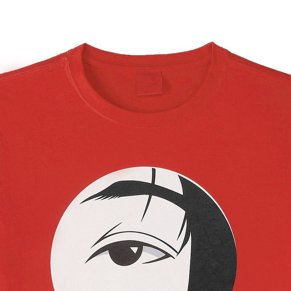Red Japanese Face T-shirt (Close-up)