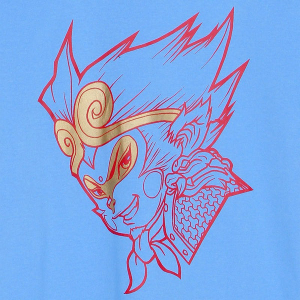 Blue Monkey God T-shirt Close-up