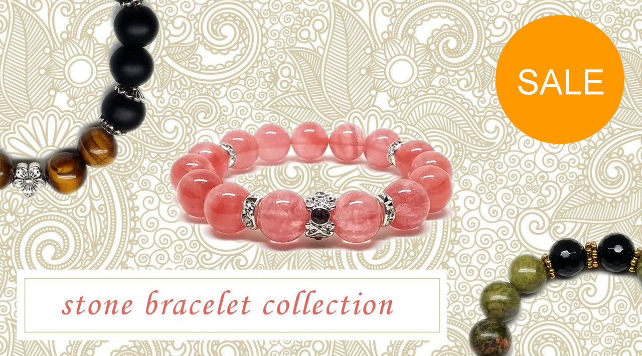 Beaded Stone Bracelet Collection