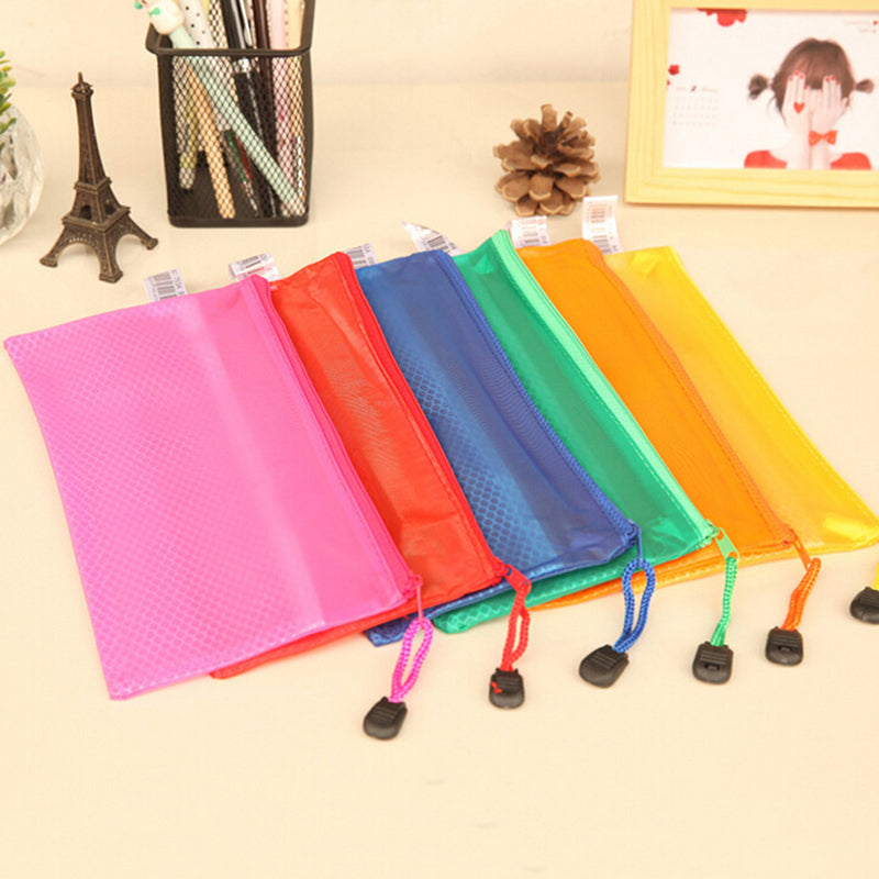 A4 Plastic Zippy Bags Zip File Storage Document Folder Protective Wallet Sleeve,