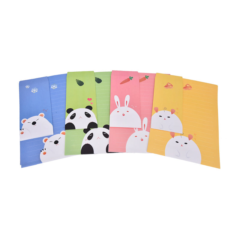 Cute Animals Letter set Writing Stationary paper & Envelope for Postcard &Letter,