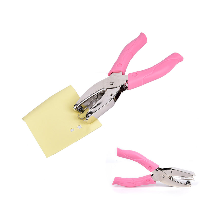 1/4 Star Hole Punch Pliers For Cushion Comfort Ergonomic Paper Hand Puncher