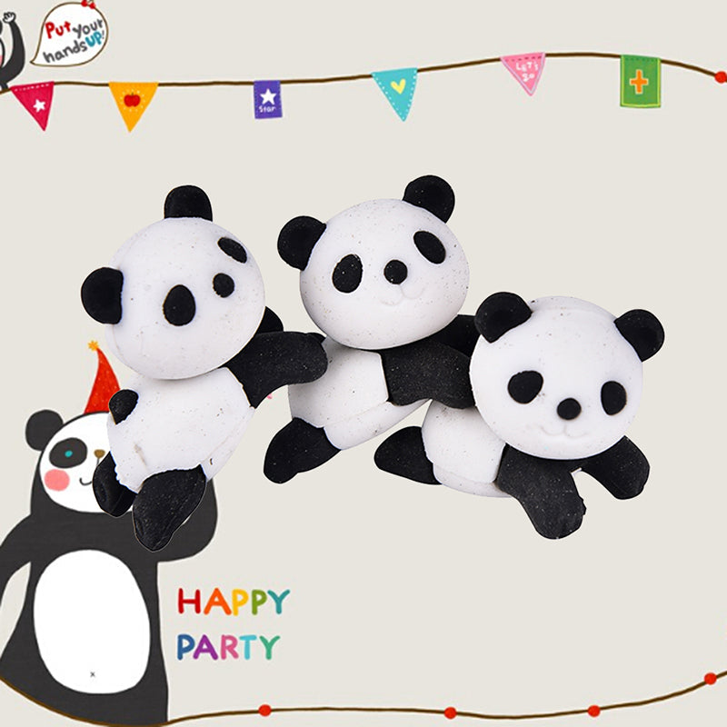 1pc Panda Eraser Stationery School Supplies Correction Supplies Child's Gifts