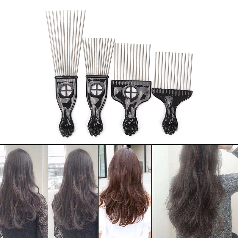 Fashion Salon Use Metal Comb Pick Comb Hair Brush Hairdressing Styling Tool