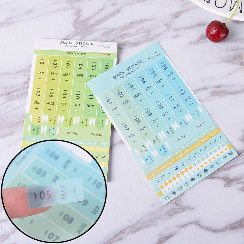 Details about  8Pcs diary sticker month plan DIY decorative sticker paper sticker stationery