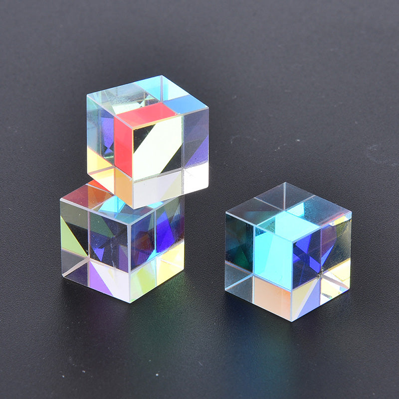 optical glass defective x-cube prism cross dichroic rgb splitter for teaching