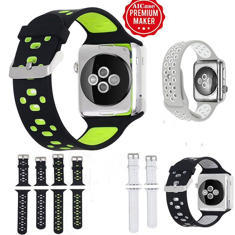 38/42mm Silicone Sport Wrist Band Strap For Apple Watch iWatch SERIES 3/2/1