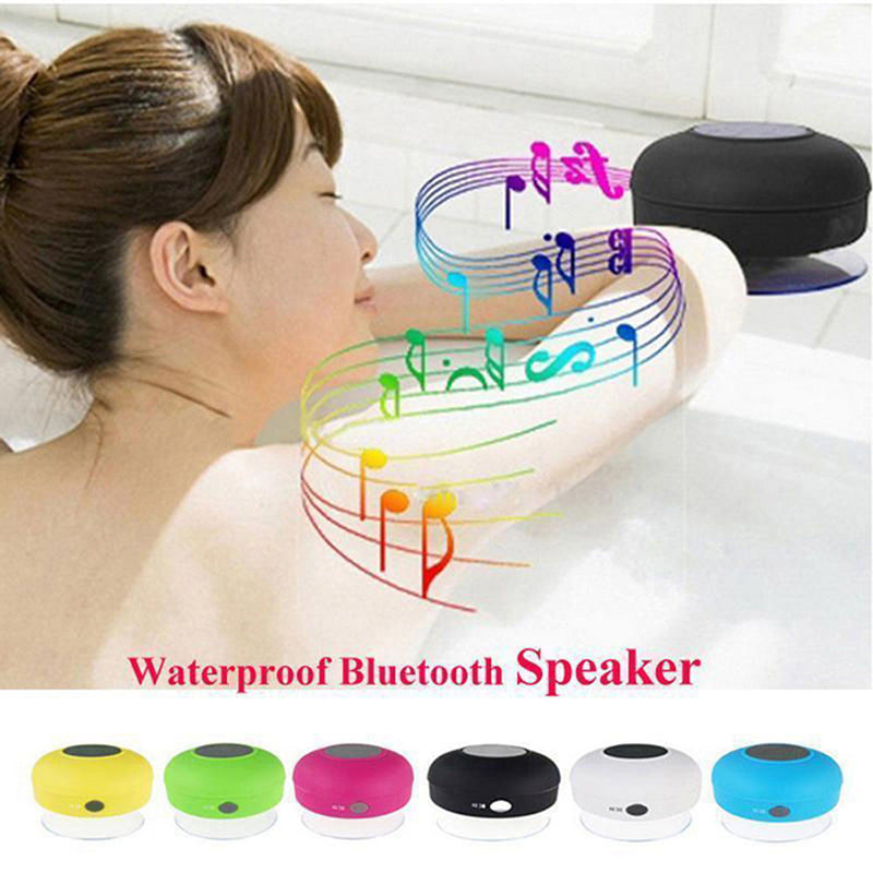 Handsfree Wireless Bluetooth Speaker Suction Car Shower Waterproof Music Mic