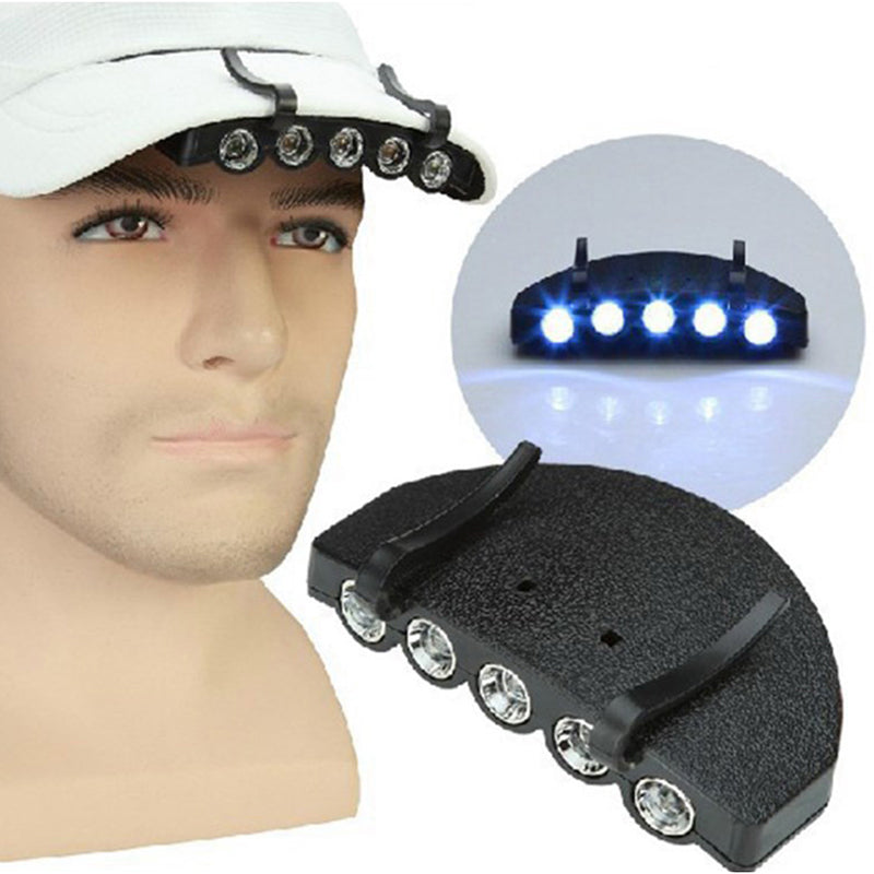 Bright 5 LED Under the Brim Cap/ Hat Light HEAD LIGHT BUY 3 GET 1 FREE SO ON
