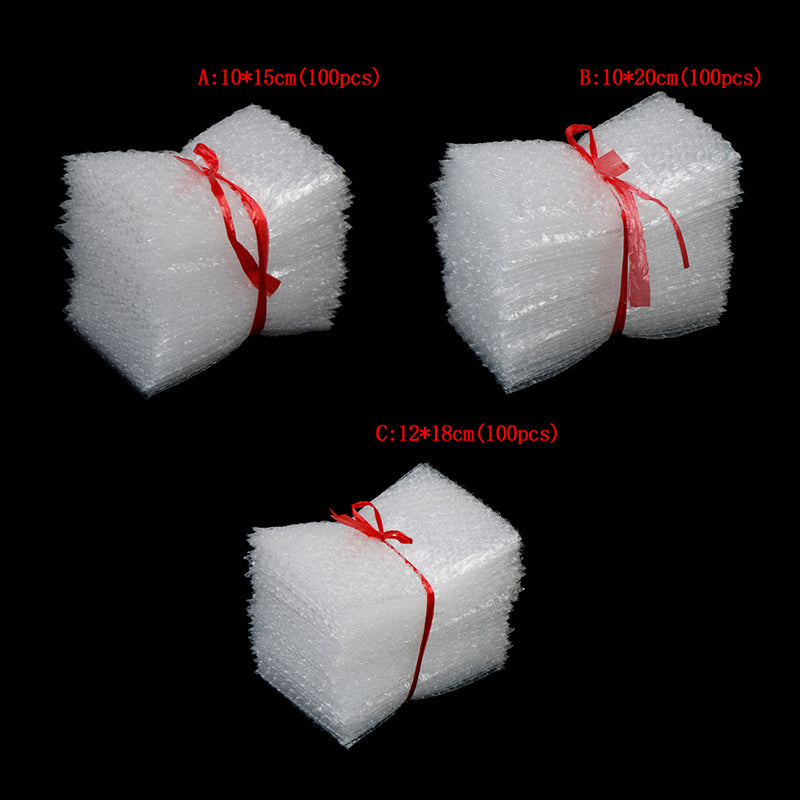 100pcs cushioning bubble bags bubble protective wrap packaging inflate bag