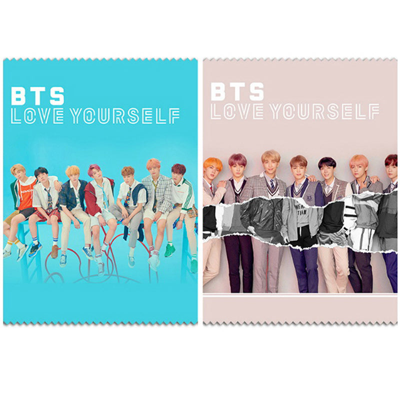 KPOP BTS Bangtan Boys Microfiber Lens Glasses Cleaning Cloth Gifts