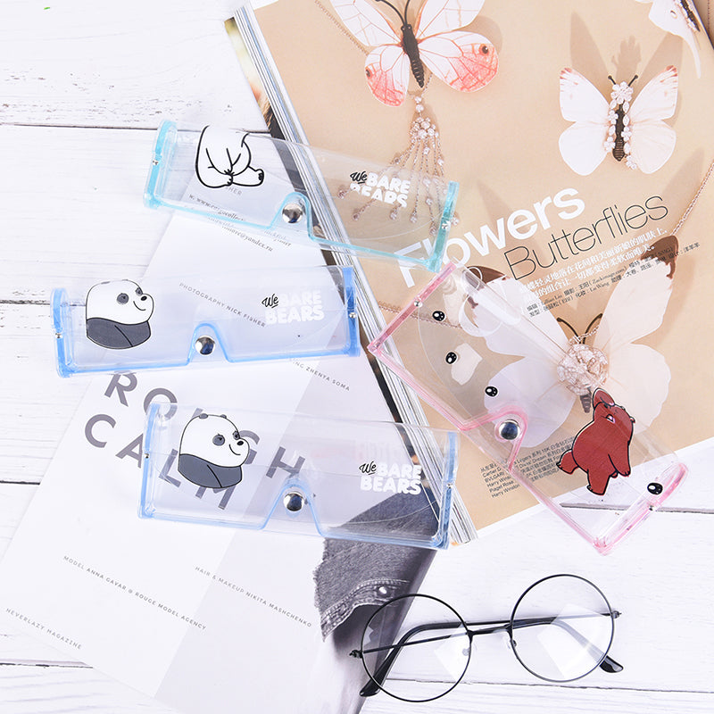 We Bare Bears Cartoon Plastic Transparent Eyeglass Glasses Box Holder