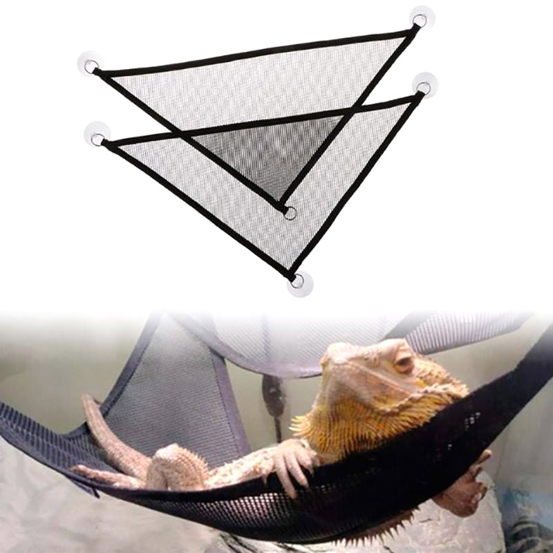 2Pcs Hammock Mesh Sleeping Bed Play Toys Swing For Reptile Snake Lizard Climb