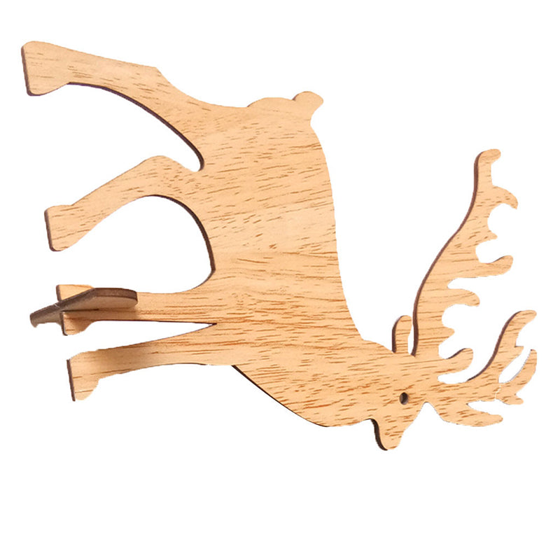 20pcs//Set Wooden Deer Antler Tags Wooden Tag Craft Christmas Party Decor