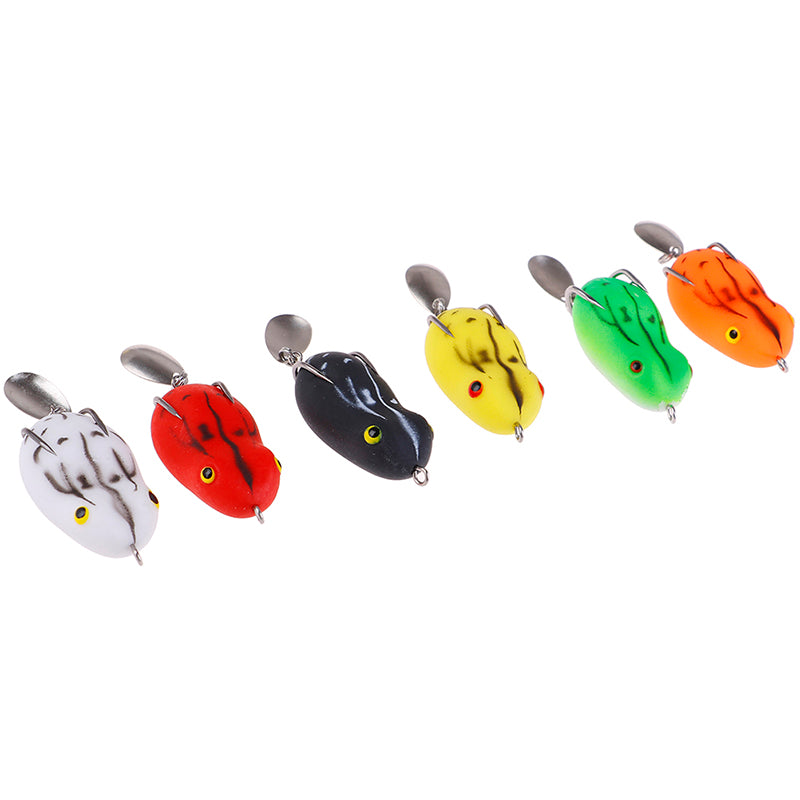 1PC Soft Frog Fishing Lure Double Hooks water Ray Frog Artificial Soft Bait