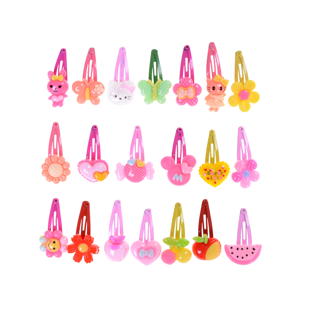 20pcs Mixed Baby Kid Children Girls Cartoon Hair Pin Clips