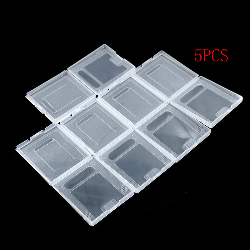 5Pxs Clear Plastic Game Cartridge Case Dust Cover for Game Boy GB GBC GBP