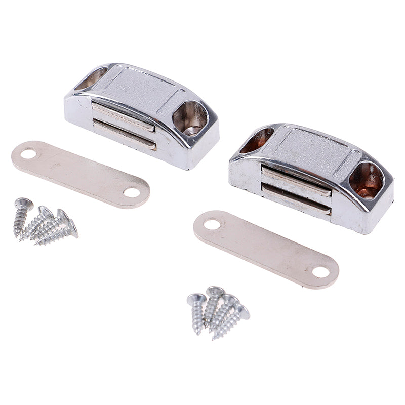 2Pcs 42*17MM Magnetic Door Catches Cupboard Wardrobe Magnetic Cabinet Latch