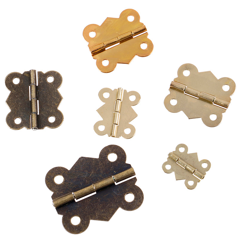 10Pcs Mini Butterfly Door Cabinet Drawer Jewellery Box Hinge Furniture
