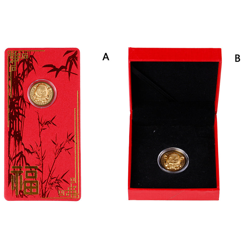 New Year Gift Mouse Rat Commemorative Coin Year Of Rat Delivers Money Coins
