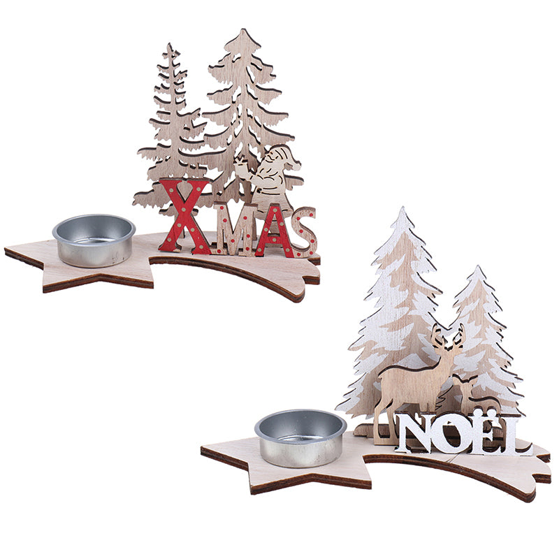 Elk Xmas Tree Wooden Ornaments Christmas Party DIY Crafts Home Garden Decoration