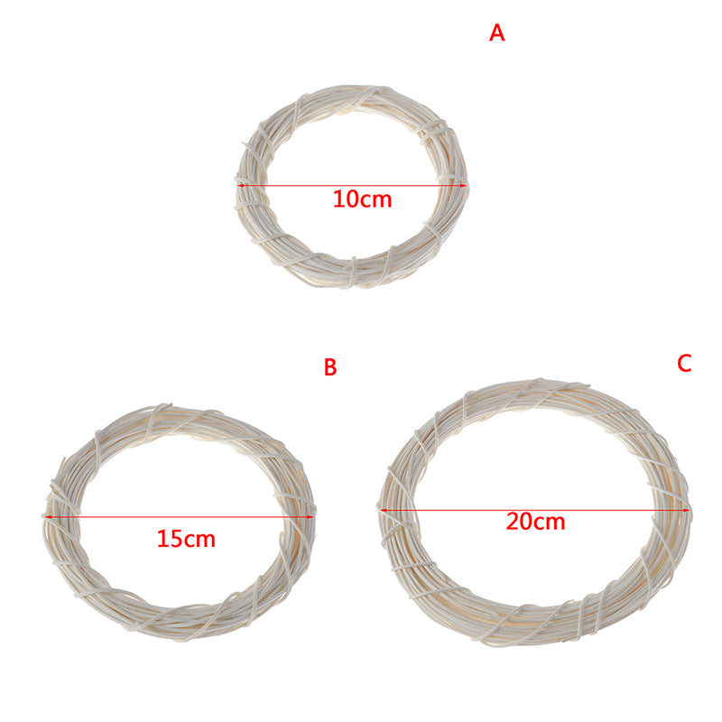10cm/20cm Rattan Ring Artificial flowers Garland For Home Christmas Decoration