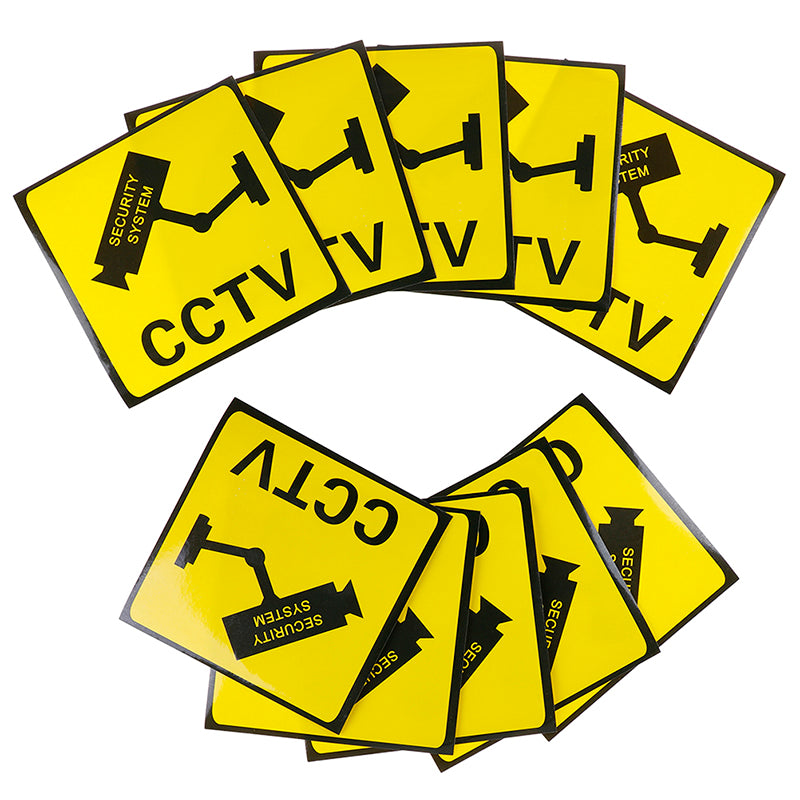 10Pcs CCTV Video Surveillance Security Camera Alarm Sticker Warning Signs