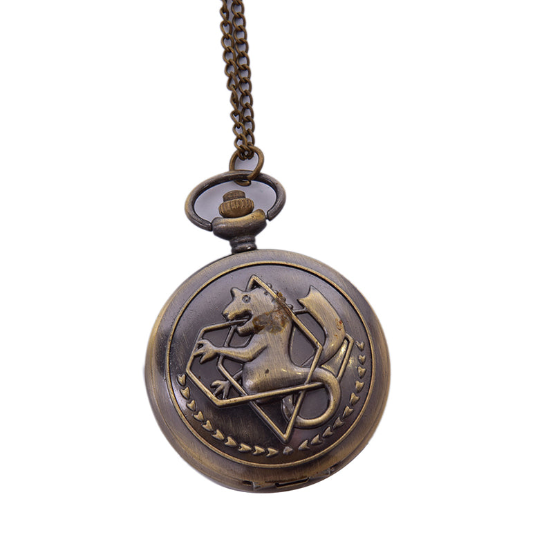 High Quality Full Metal Bronze Watch Pendant Men's Quartz Pocket Watch Necklace
