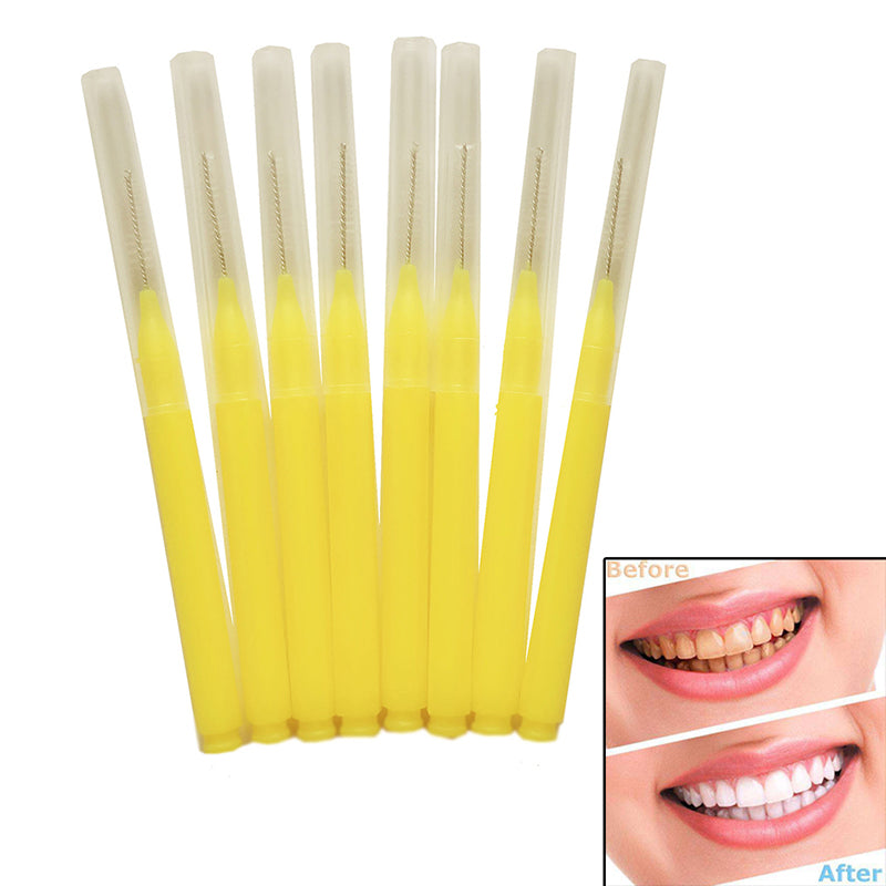 8Pcs dental oral care interdental floss brush tooth pick teeth cleaning