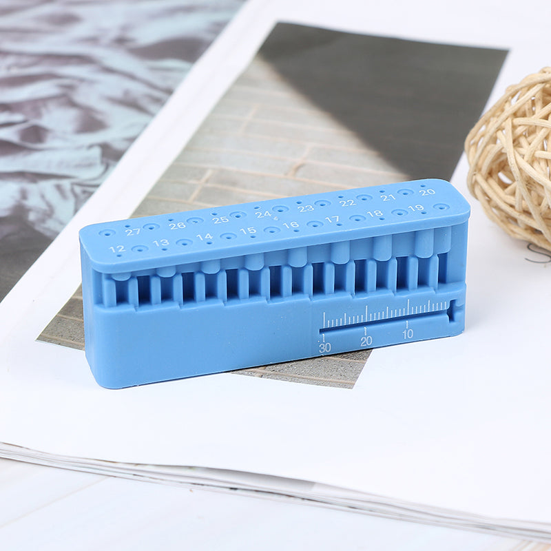 Dental measuring block endodontic file holder ruler autoclavable tools
